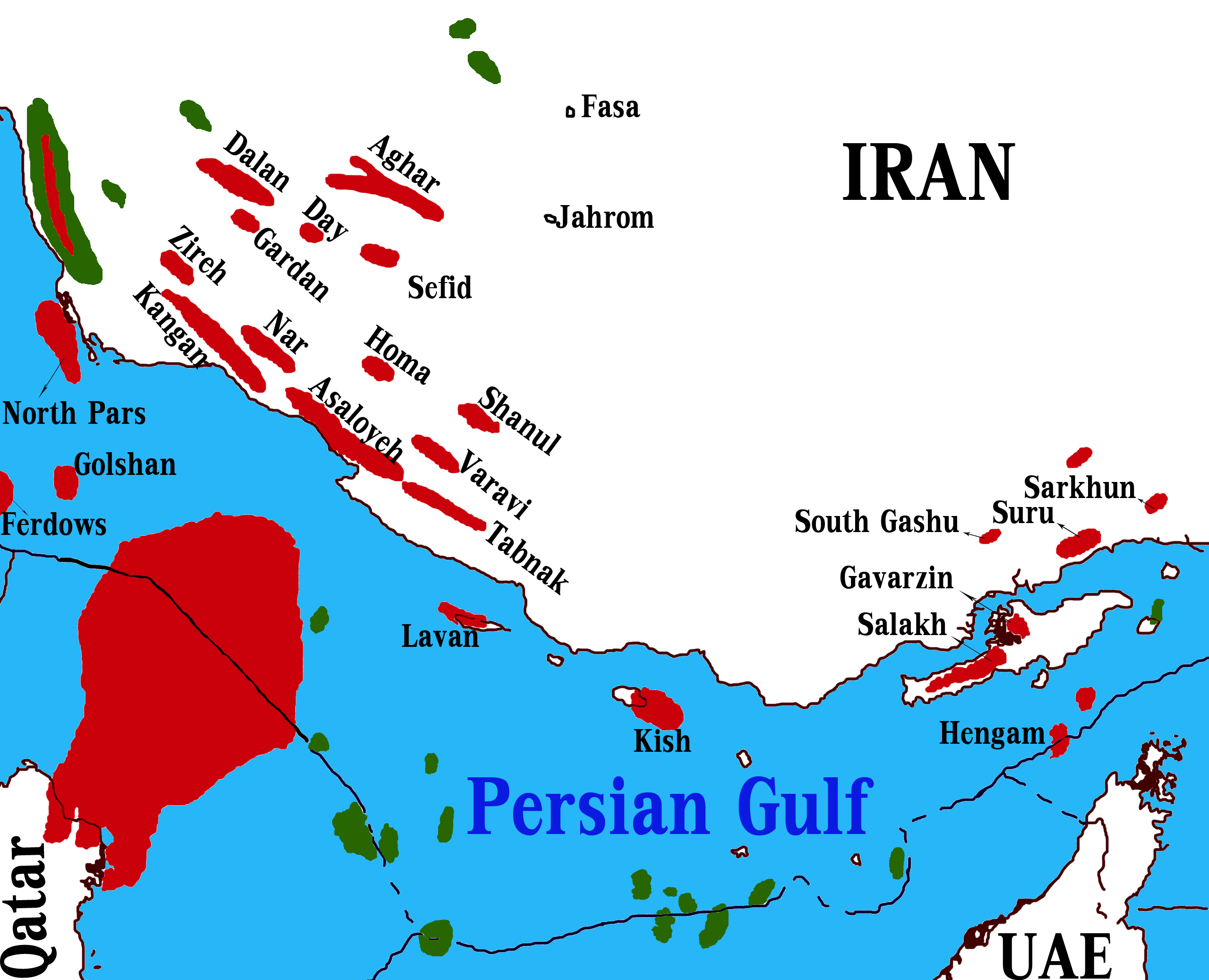 Iran Oil And Gas Reserves