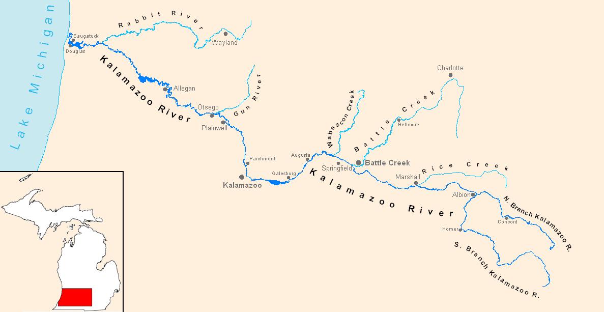 Worksheet. FileKalamazoo River Mappng  Wikimedia Commons