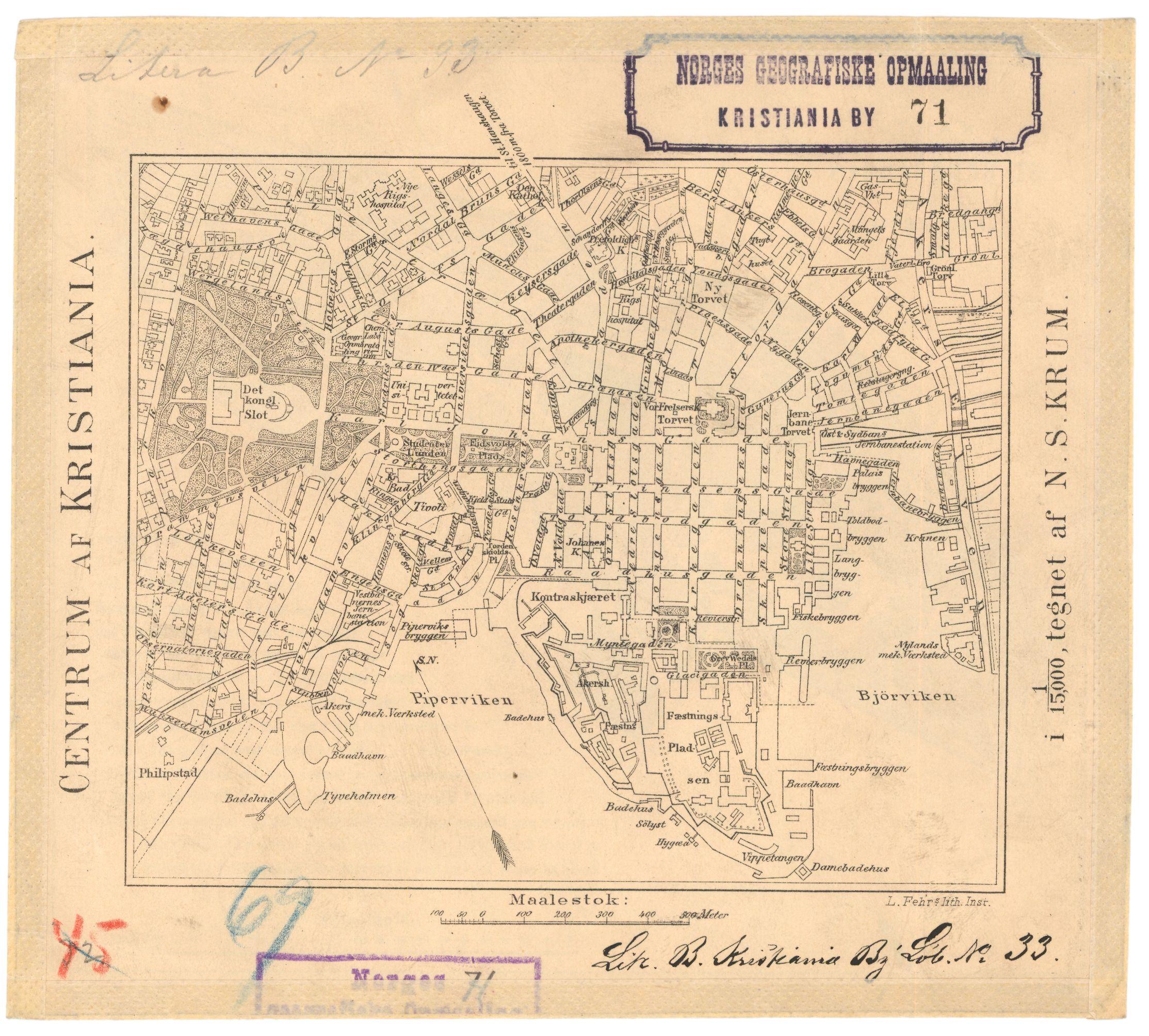 st hanshaugen kart File:Kart over centrum af Kristiania og St Hanshaugen (71 1), 1884  st hanshaugen kart