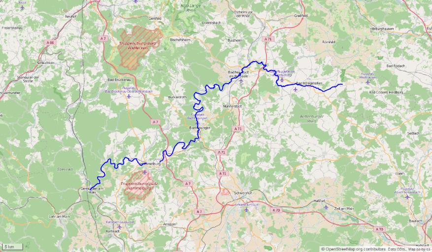 verlauf der saale karte Fränkische Saale – Wikipedia verlauf der saale karte