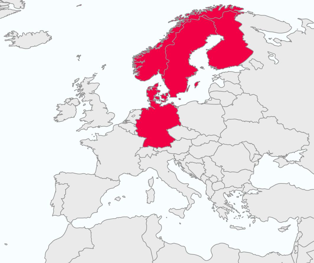 Skandinavien Einwohner