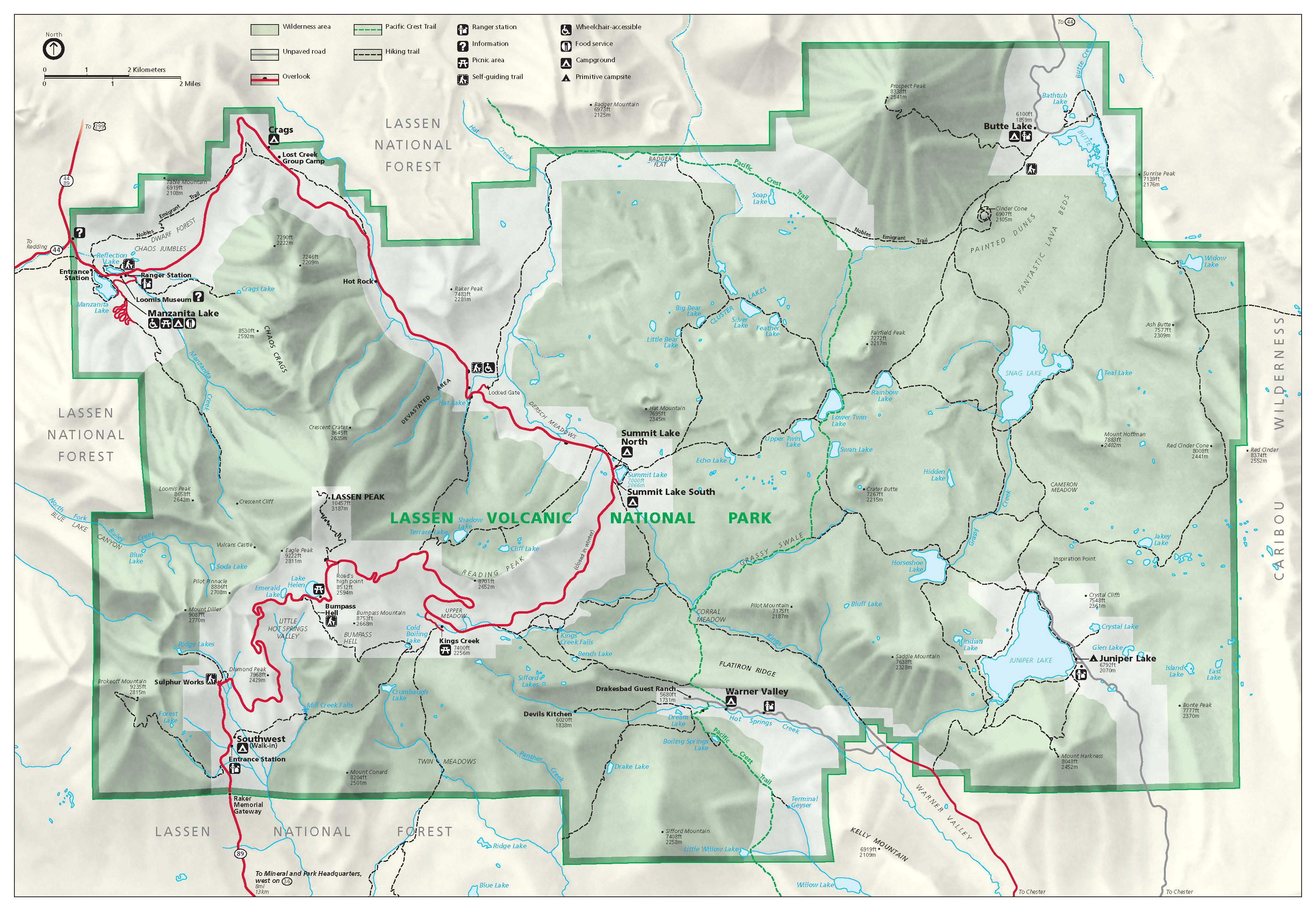 File Lassen Volcanic National Park Map 2006 07 Png