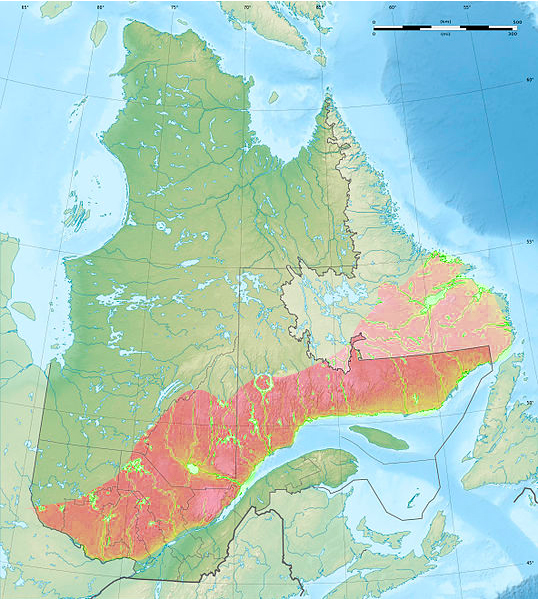 Map Of Canada Mountains.Laurentian Mountains Wikipedia