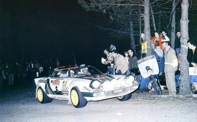Lele Pinto Lancia Stratos Hf Alitalia Rallye Sanremo