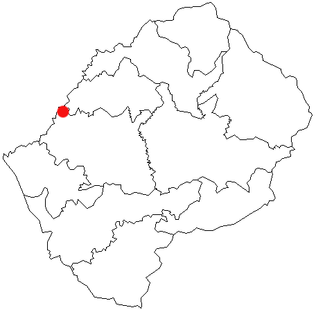 Maseru locator map