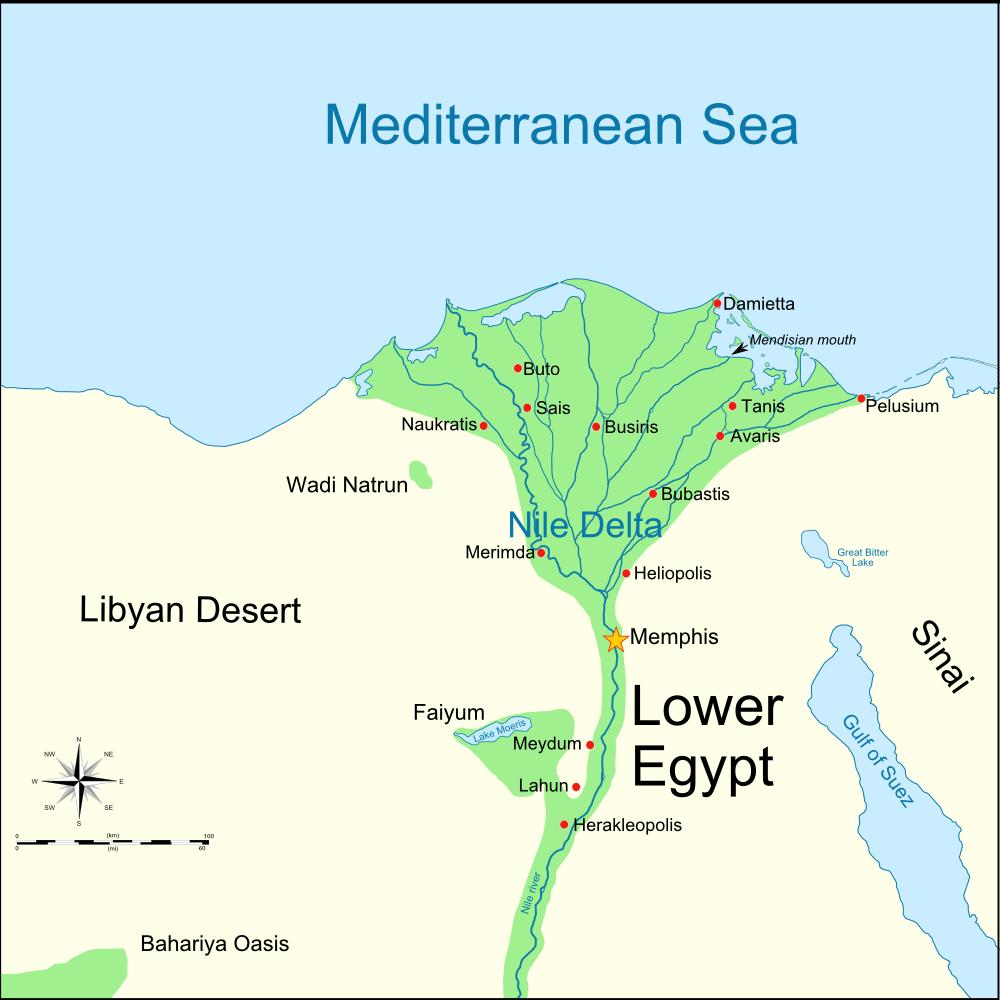 FileLower Egypt BCpng Wikimedia Commons - Map of egypt goshen
