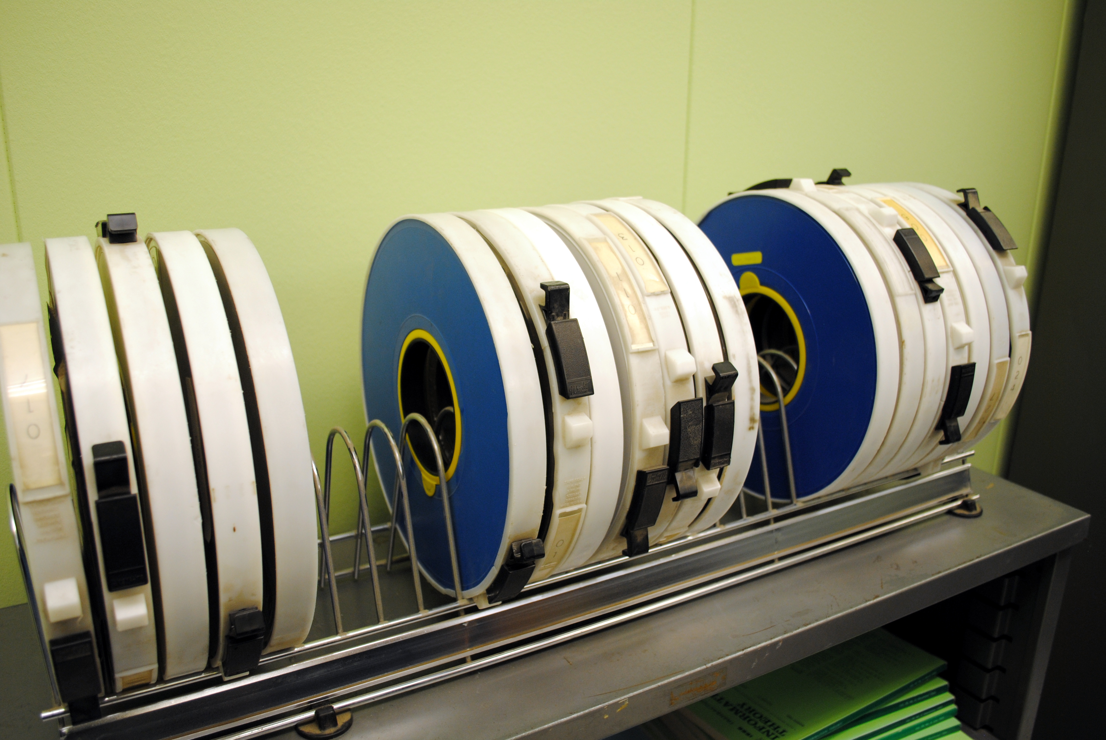 English Magnetic tapes of the SDS Sigma 7 mainframe computer.