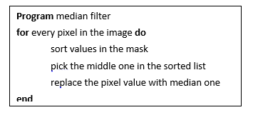 Median filter pseudocode