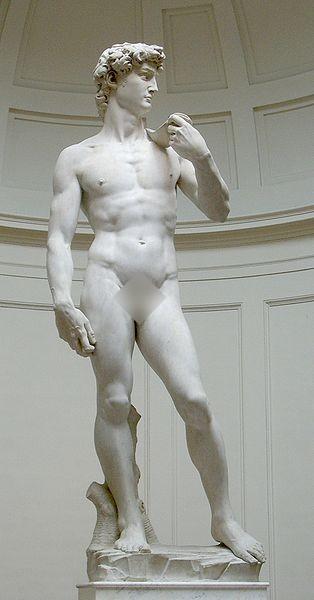 Michelangelova mramorová socha Dávida