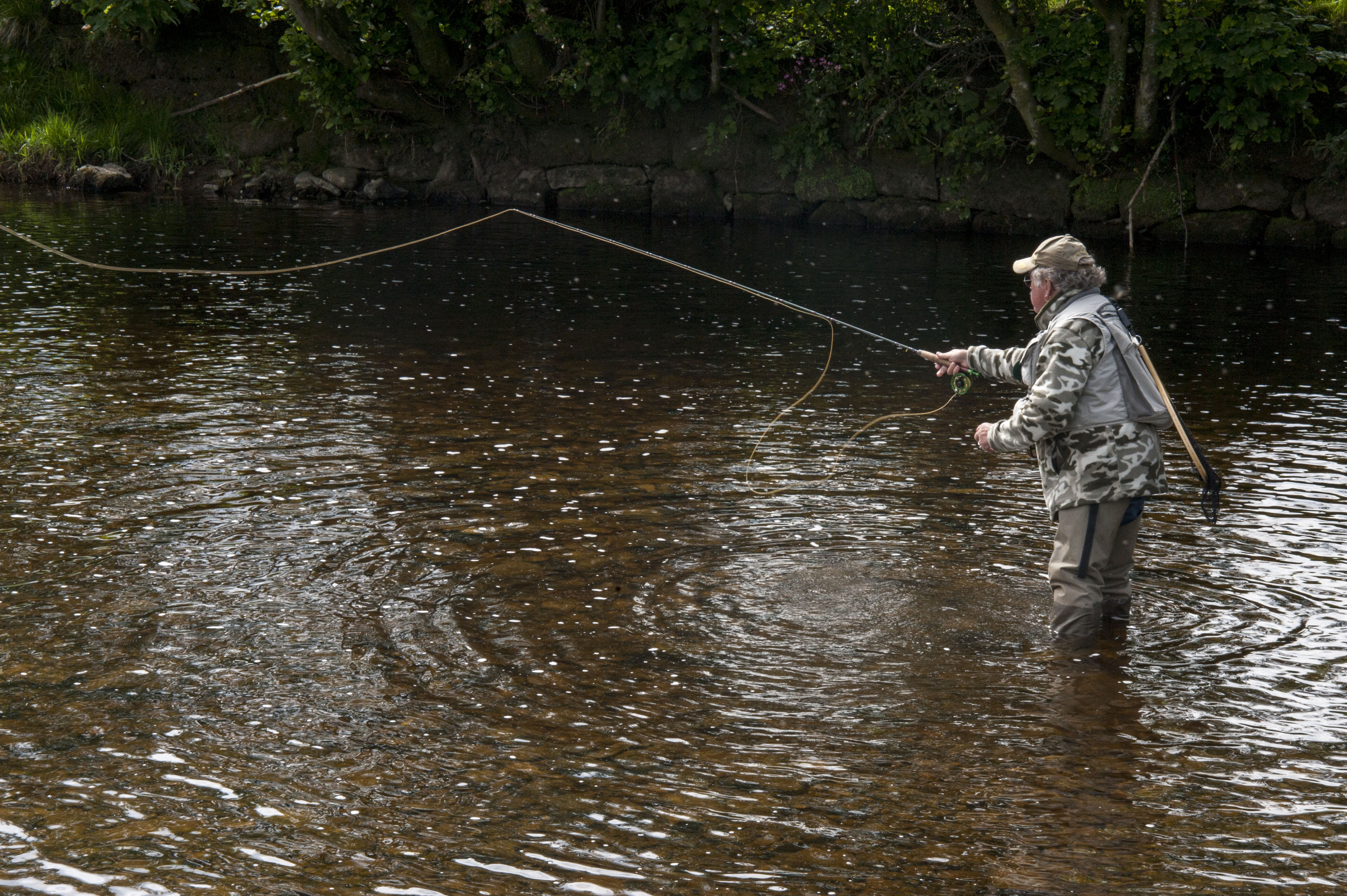 Fly fishing casting and instruction snowy mountains for Fish stocking near me