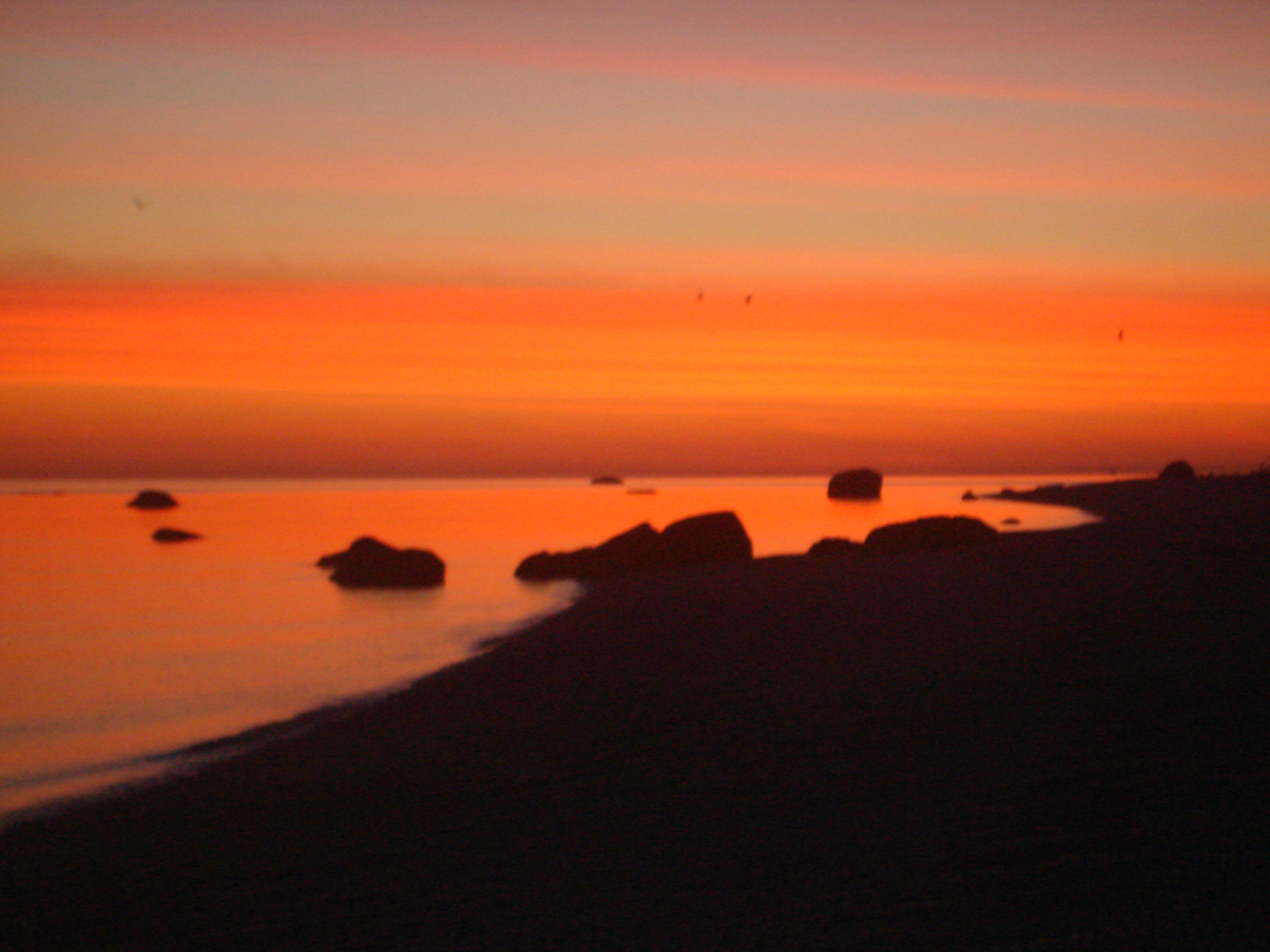 filemiller place beach at dawn red skyjpg wikimedia