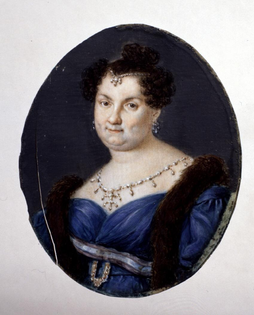 Miniature portrait of Maria Christina of the Two Sicilies (1806-1878), Queen Consort of Spain.jpg