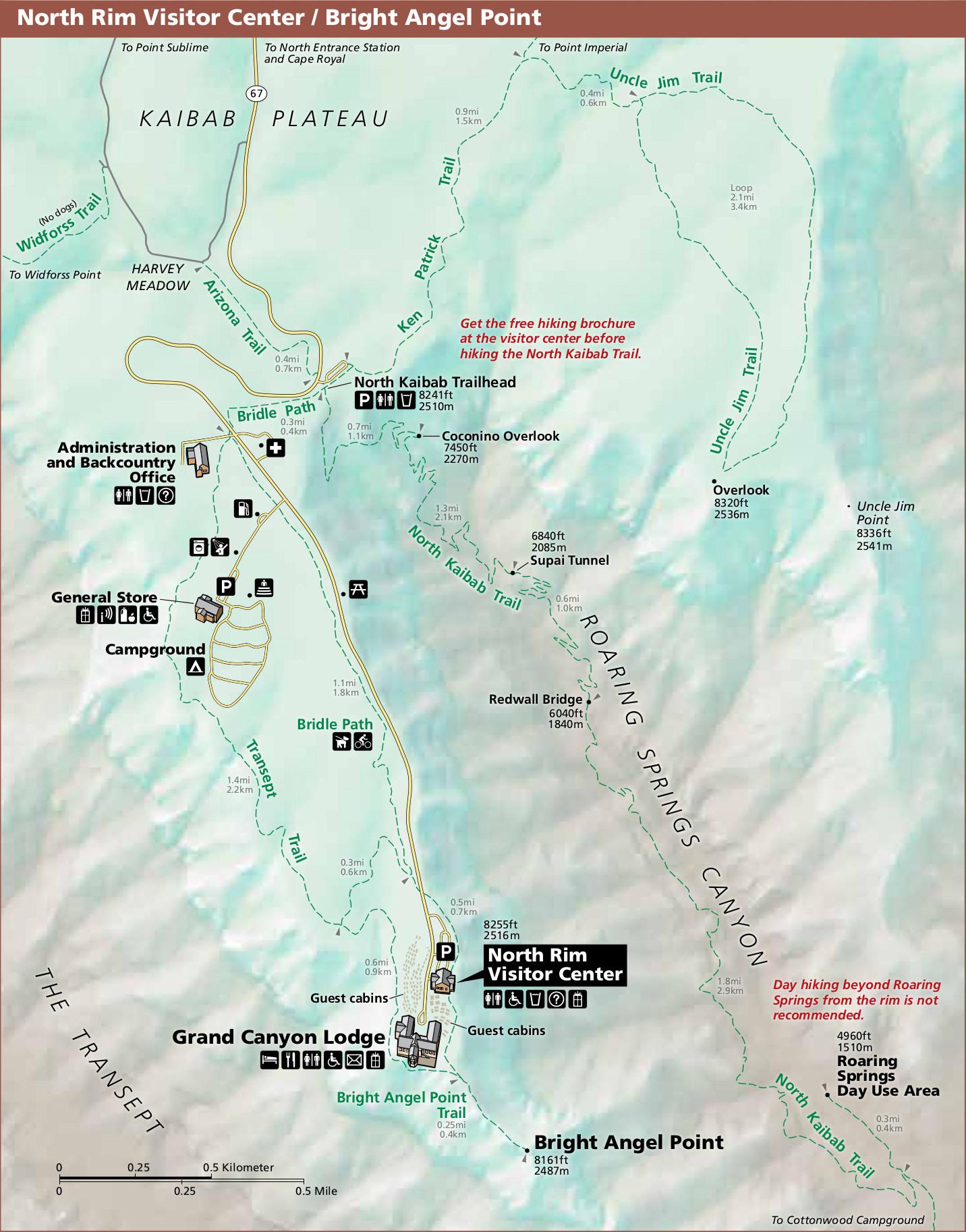north rim grand canyon map File Nps Grand Canyon North Rim Visitor Center Map Jpg Wikimedia north rim grand canyon map