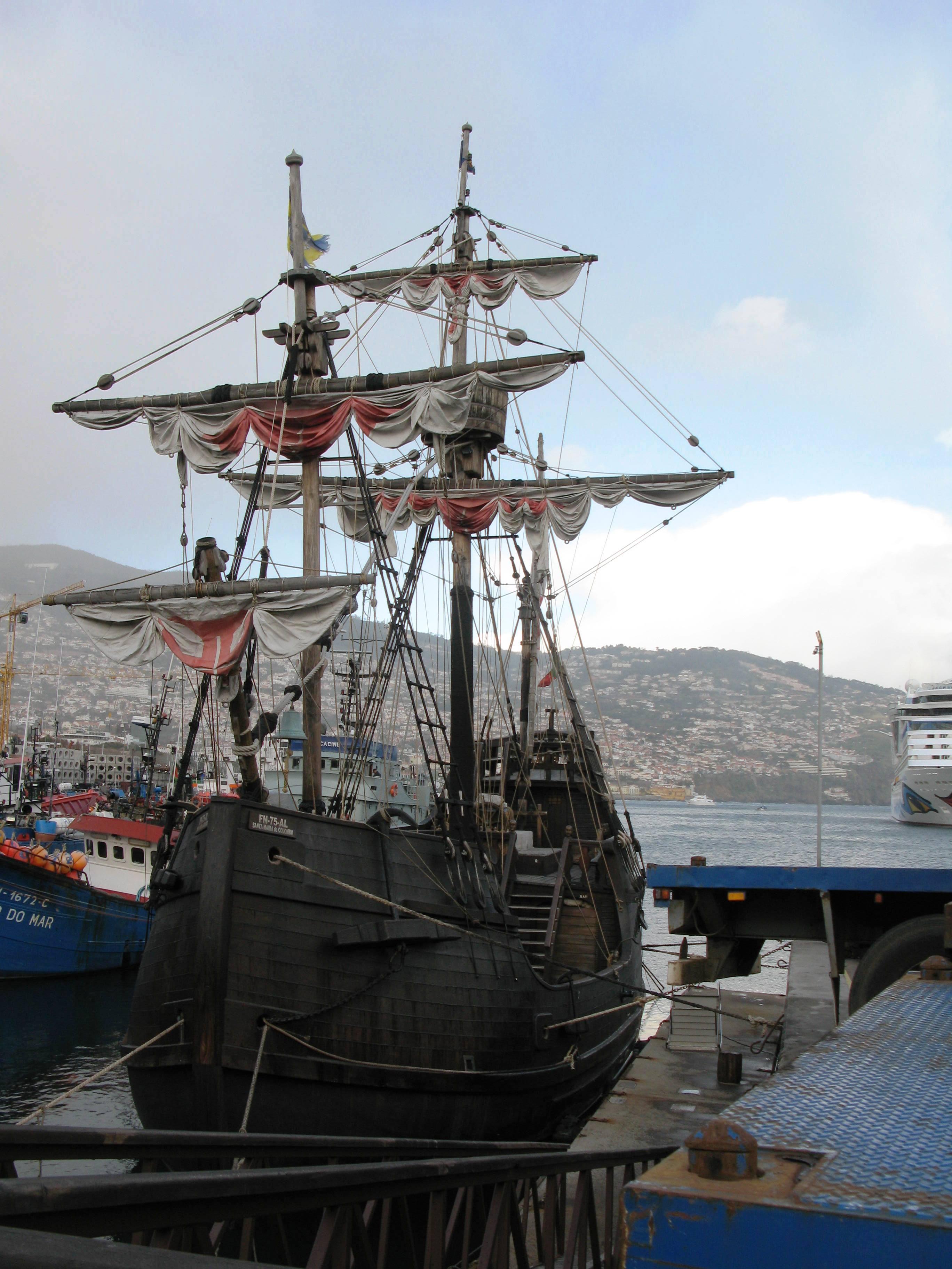 Description Nau Santa Maria - Funchal, Madeira 2009.jpg