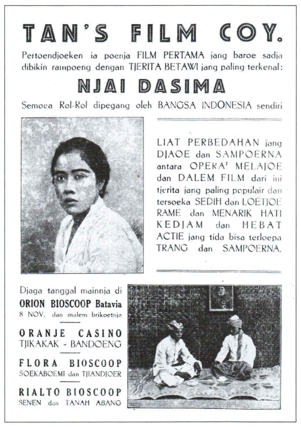 Njai Dasima (film 1929) - Wikipedia bahasa Indonesia, ensiklopedia ...