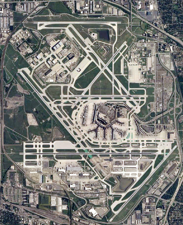 OHare International Airport Wikipedia - Airport map of northeast coast of us