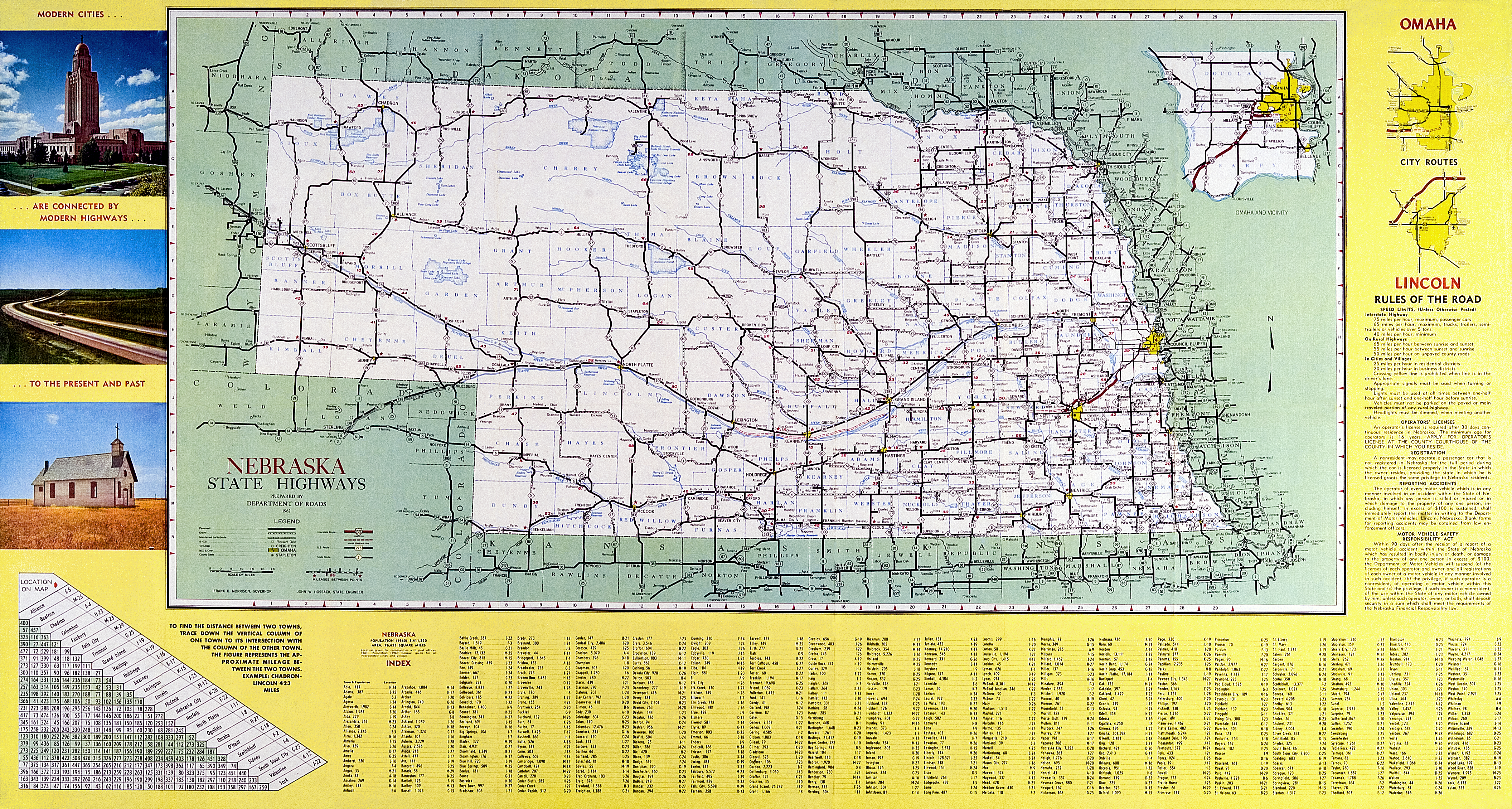 Fileofficial Map Nebraska State Highway System 1962png - Us-map-nebraska-state
