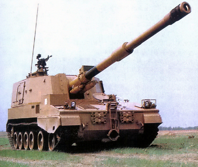 The earlier export version, the PLZ-45 was sold to Kuwait, Saudi Arabia, Algeria and is also used by the PLA - Source: Wikipedia