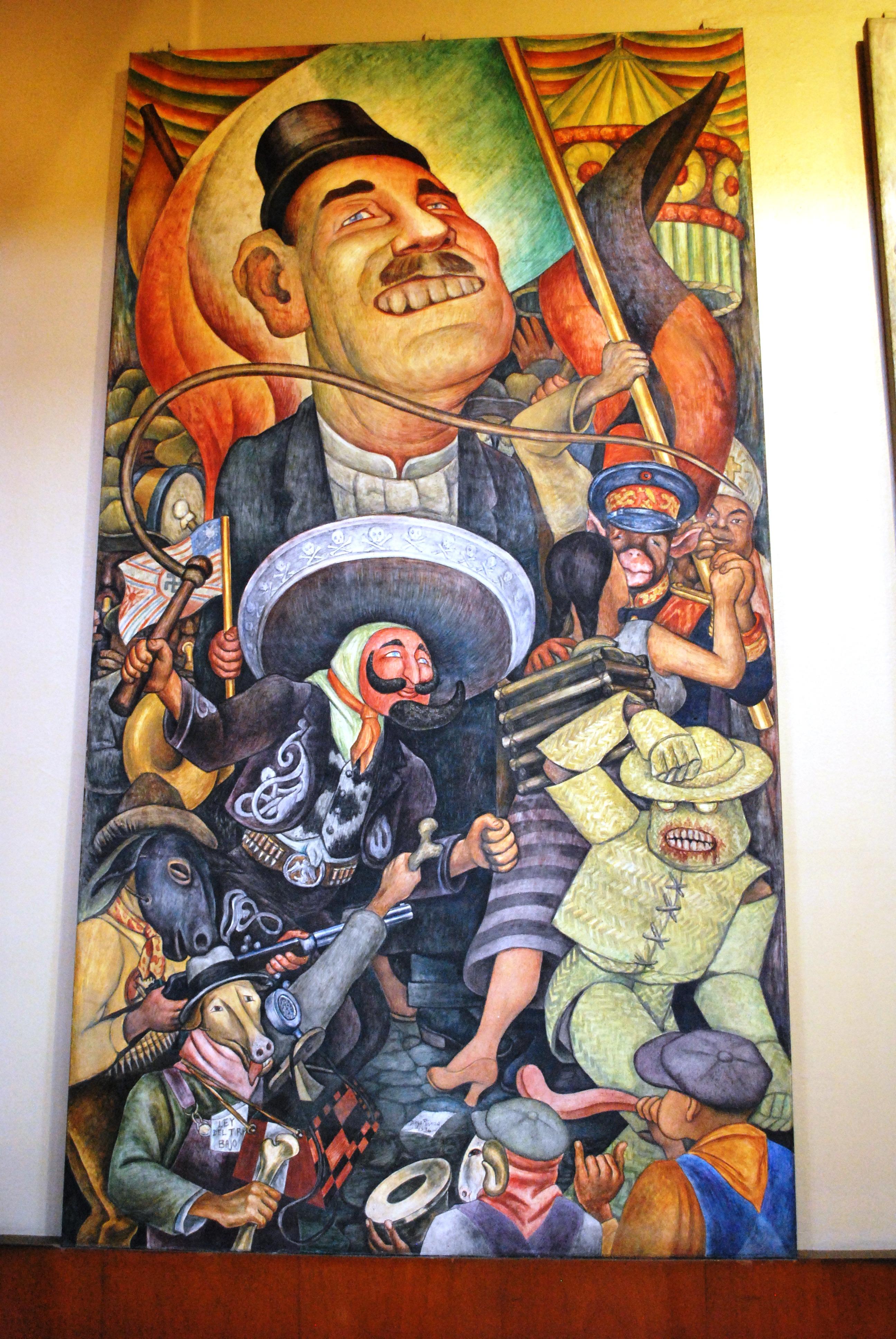 File palacio de bellas artes mural carnaval de la vida for Mural mexicano