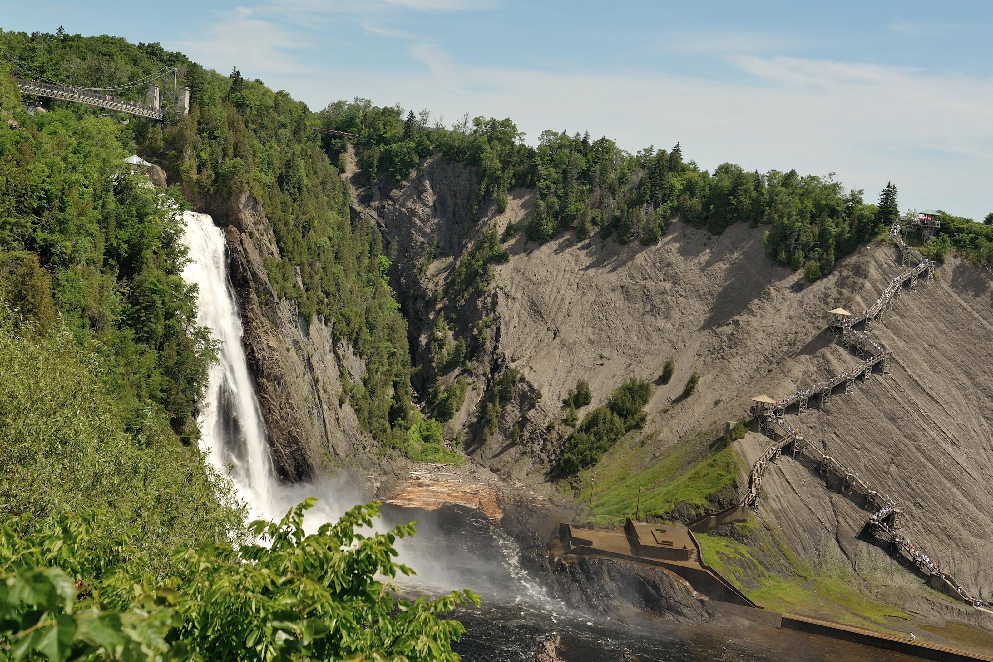 File Parc De La Chute Montmorency Jpg Wikimedia Commons