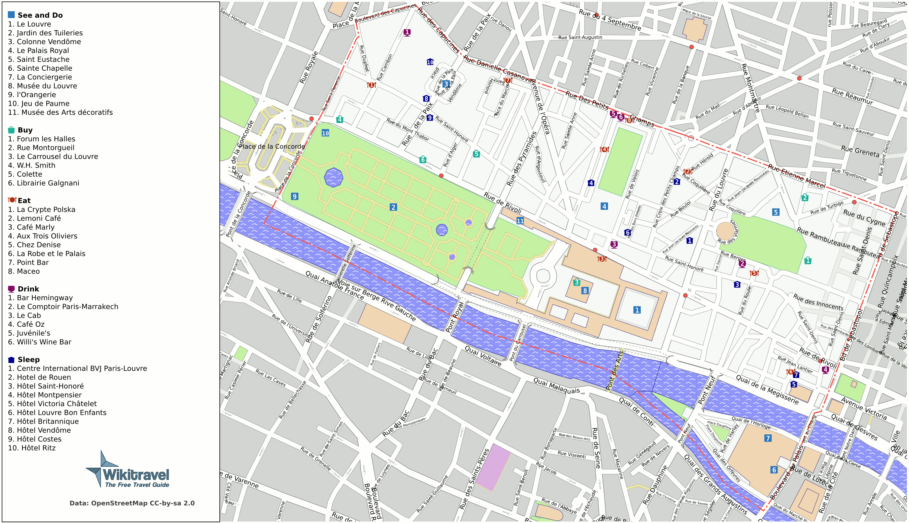 FileParis St Mappng Wikimedia Commons - What to see in paris map