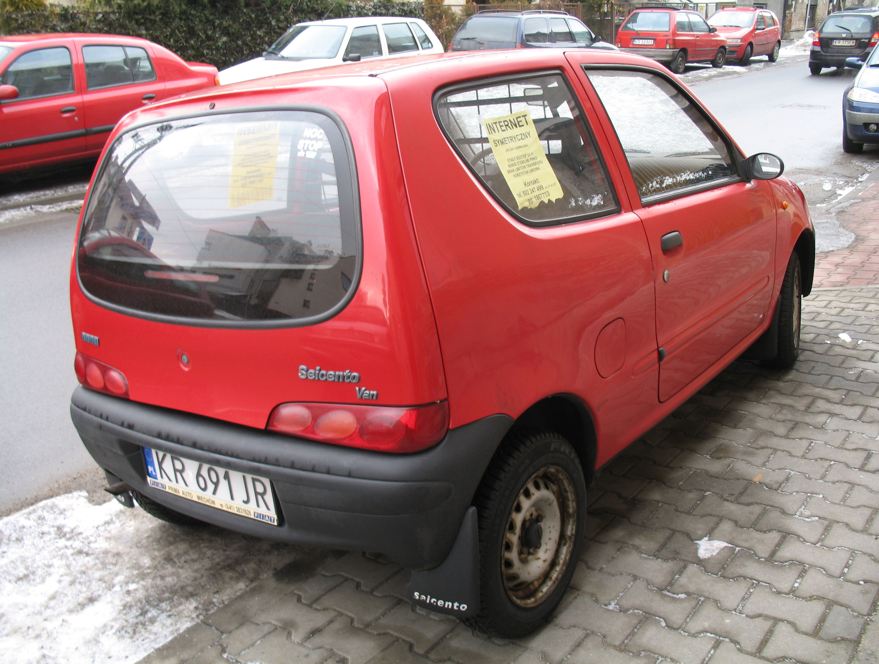 file red fiat seicento van in krak w 2 jpg wikimedia commons. Black Bedroom Furniture Sets. Home Design Ideas