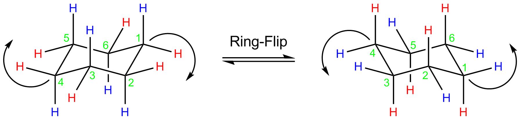 Cyclohexane Ring Flip Energy Profile