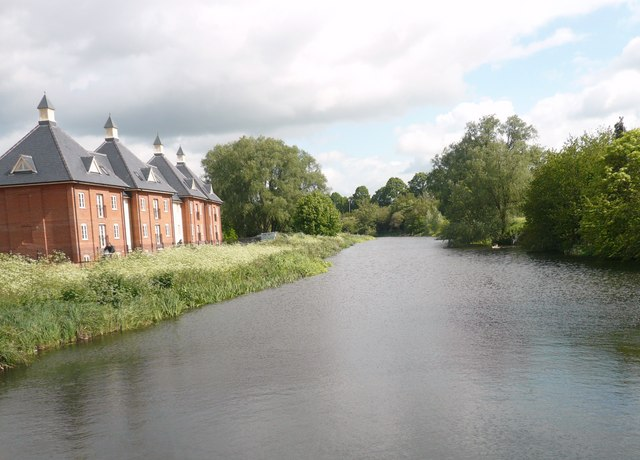 River Colne from the new footbridge at the Mill - geograph.org.uk - 1309136