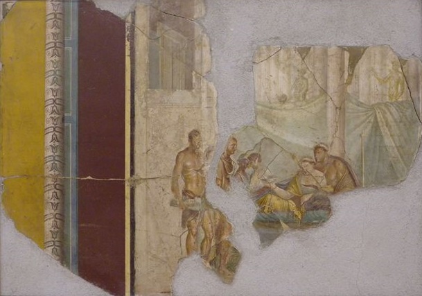 File:Roman Wall painting from the House of Giuseppe II, Pompeii, 1st ...