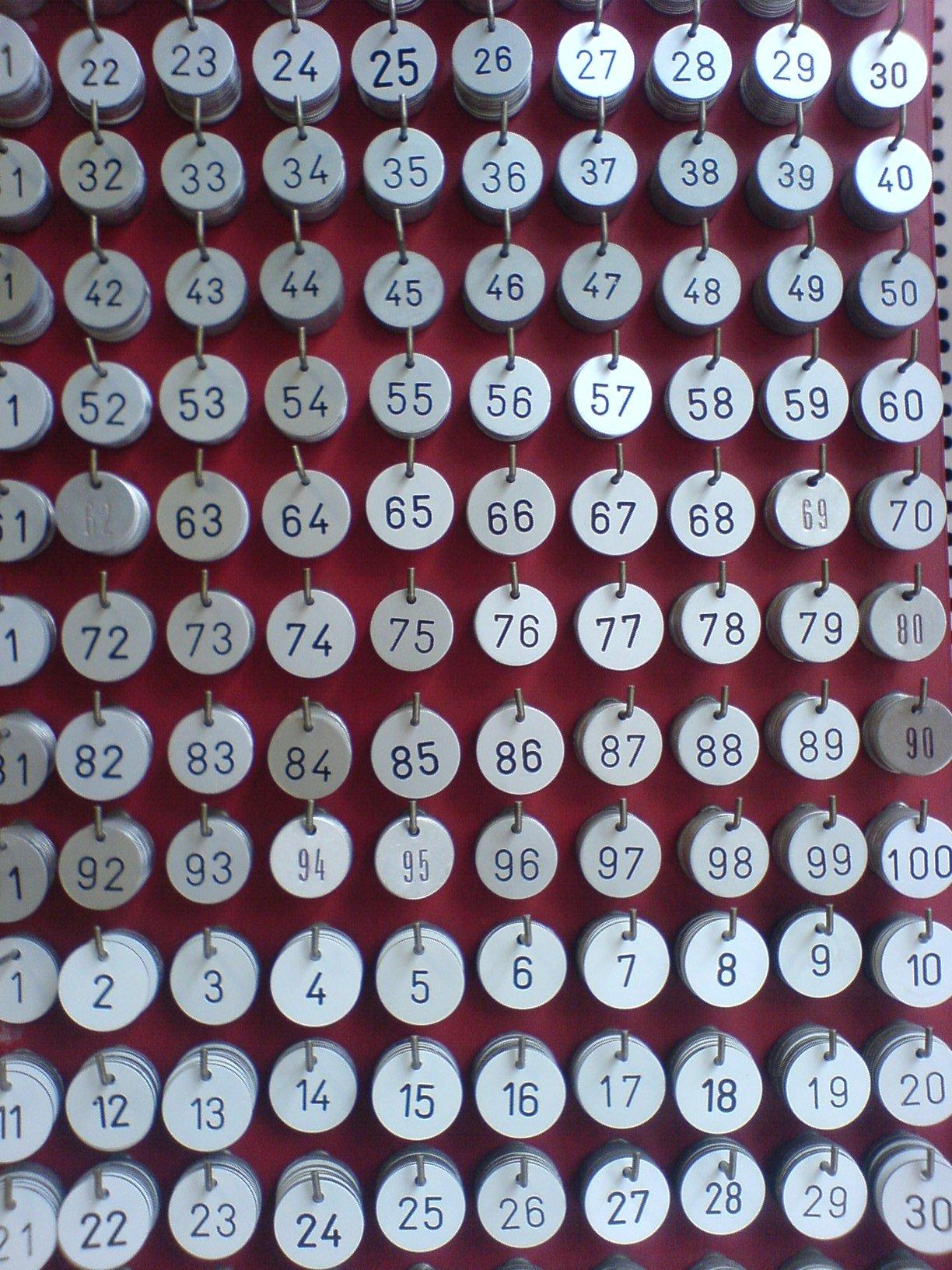 File:Runde Schlüsselanhänger mit Nummern aus Aluminium.JPG ...