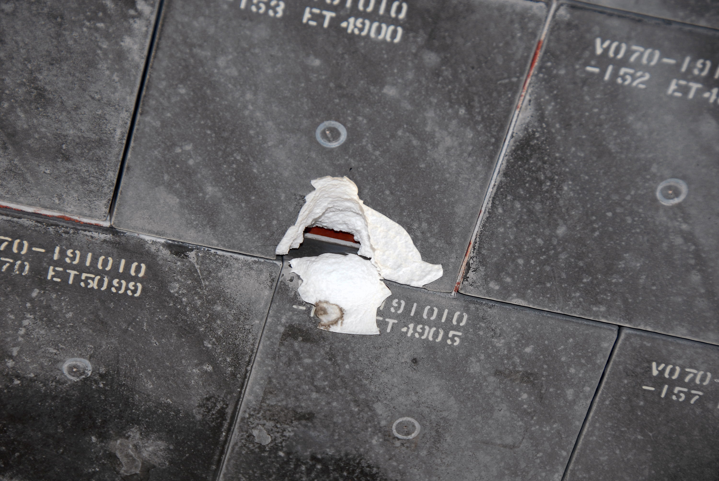 Close Up Image Of Damaged Space Shuttle Ceramic Tile Hi