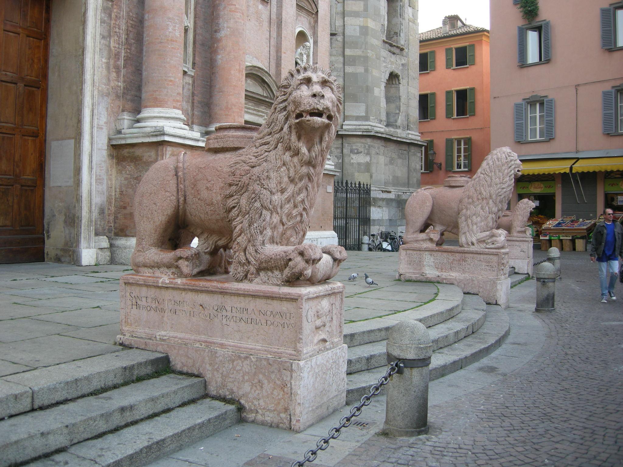 Risultati immagini per leoni s. prospero reggio