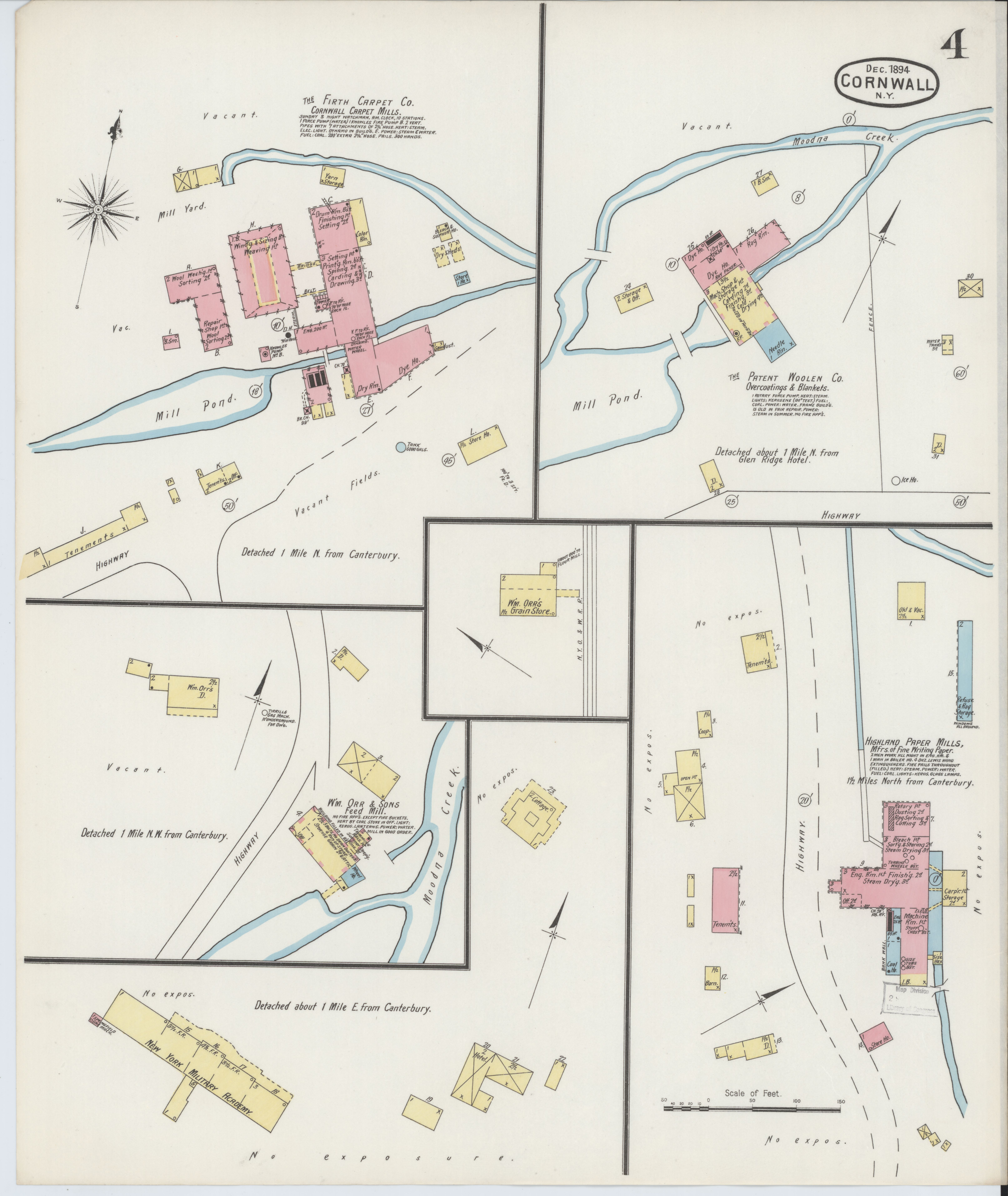 Map Of New York 2001.File Sanborn Fire Insurance Map From Cornwall Orange County New