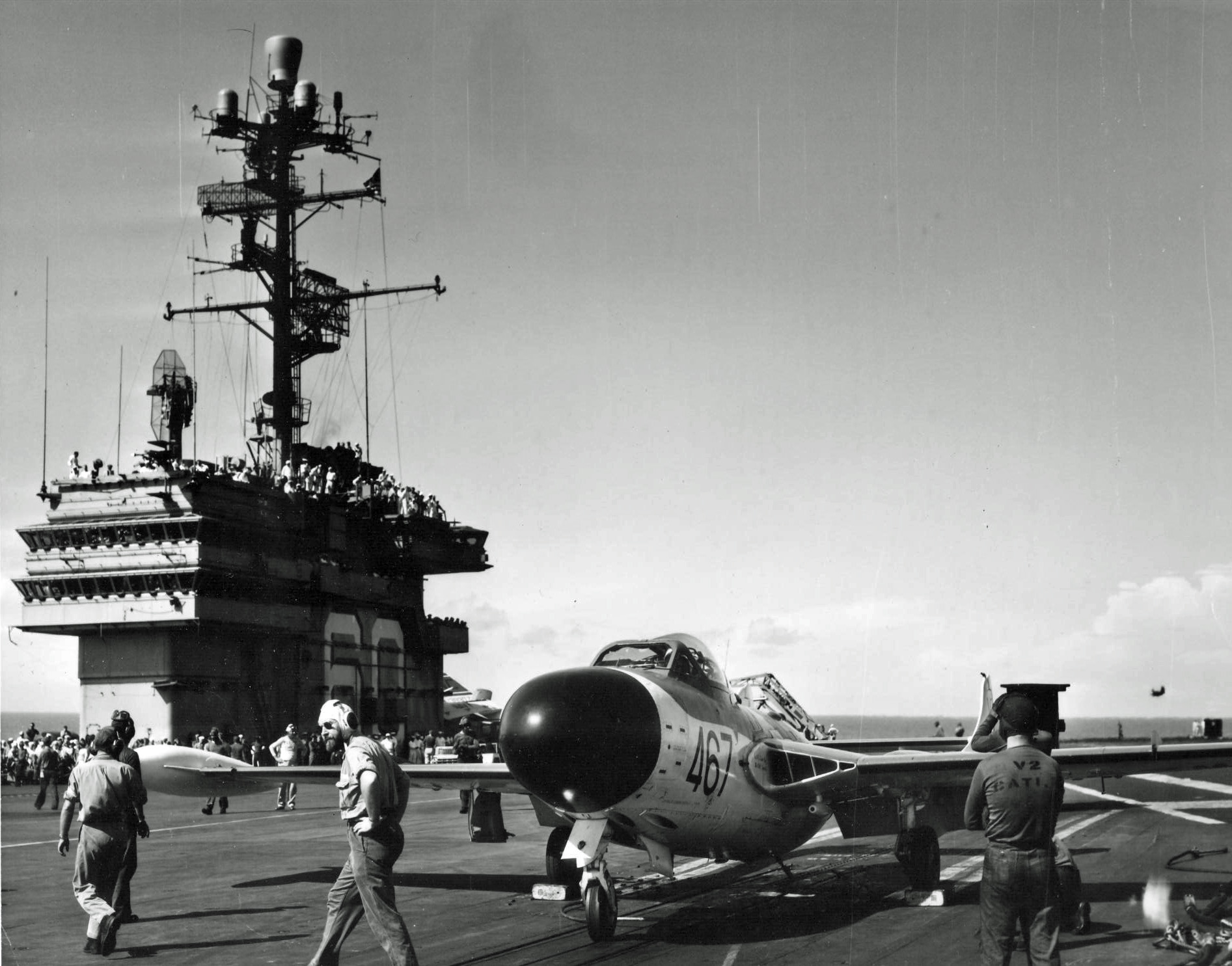 Description Sea Venom On USS Saratoga 1958jpg