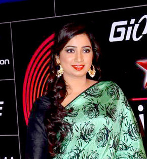 Ghoshal at 4th Global Indian Music Academy Awards, 2014 Shreya Ghoshal GiMA.jpg