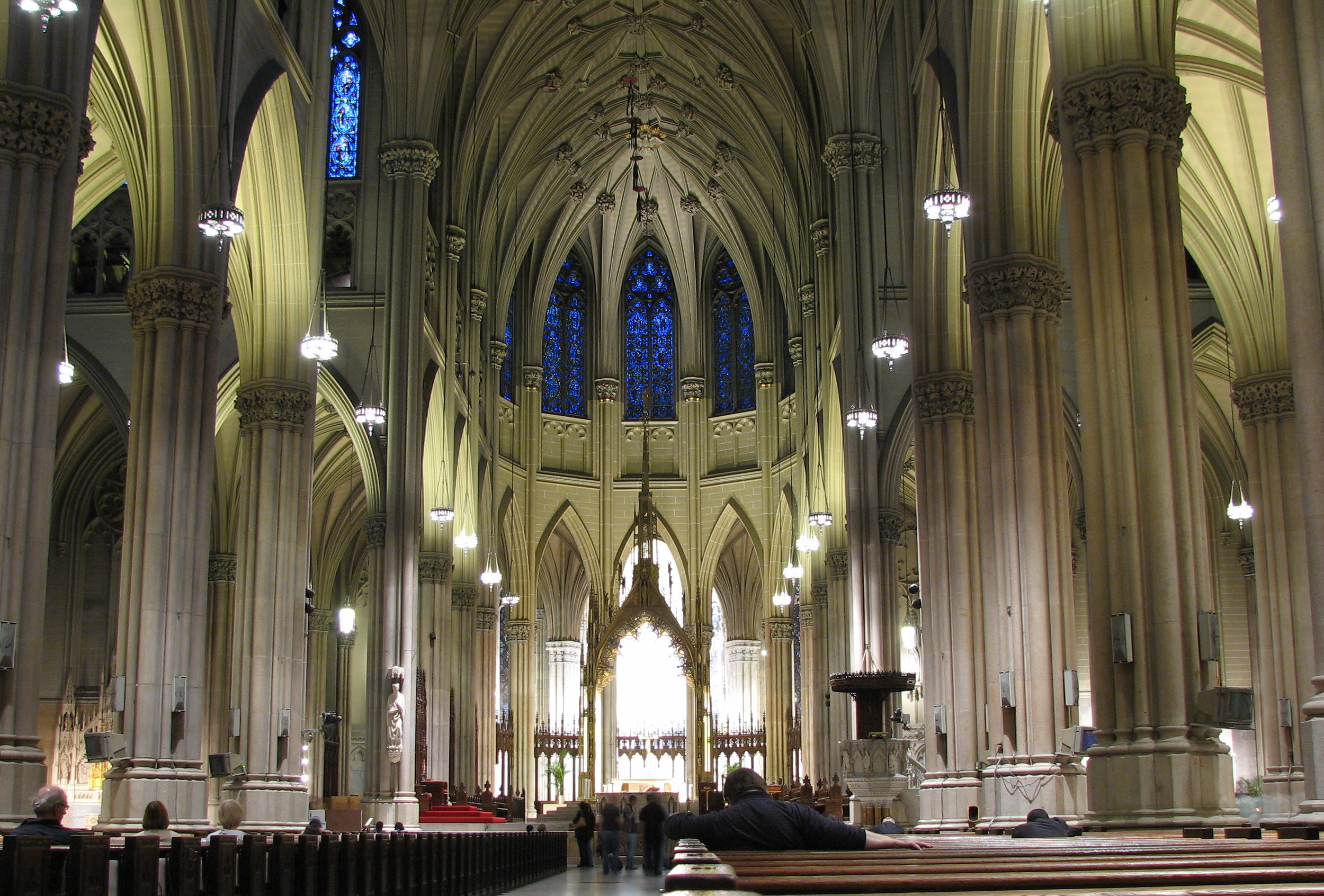 Amazing aerial and interior photos of st patrick 39 s for The interior ny
