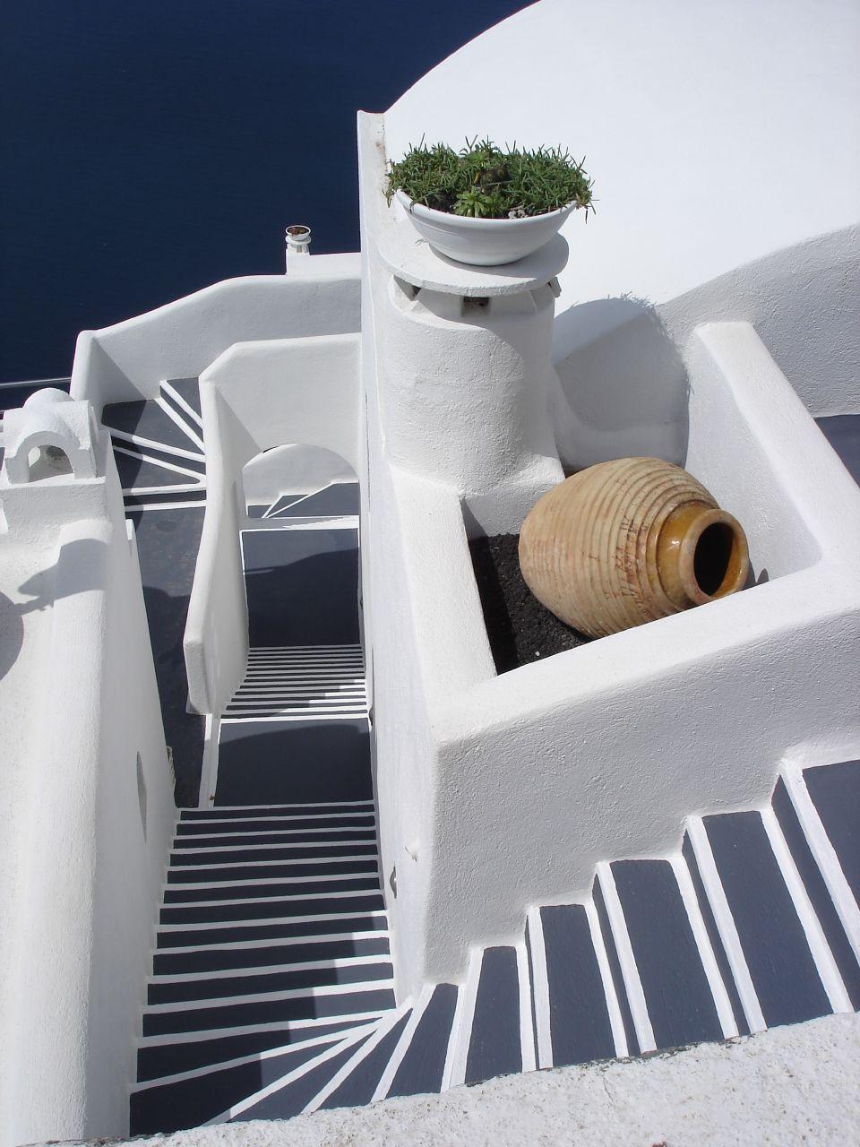 File Stairs Firostefani Santorini Greece Jpg
