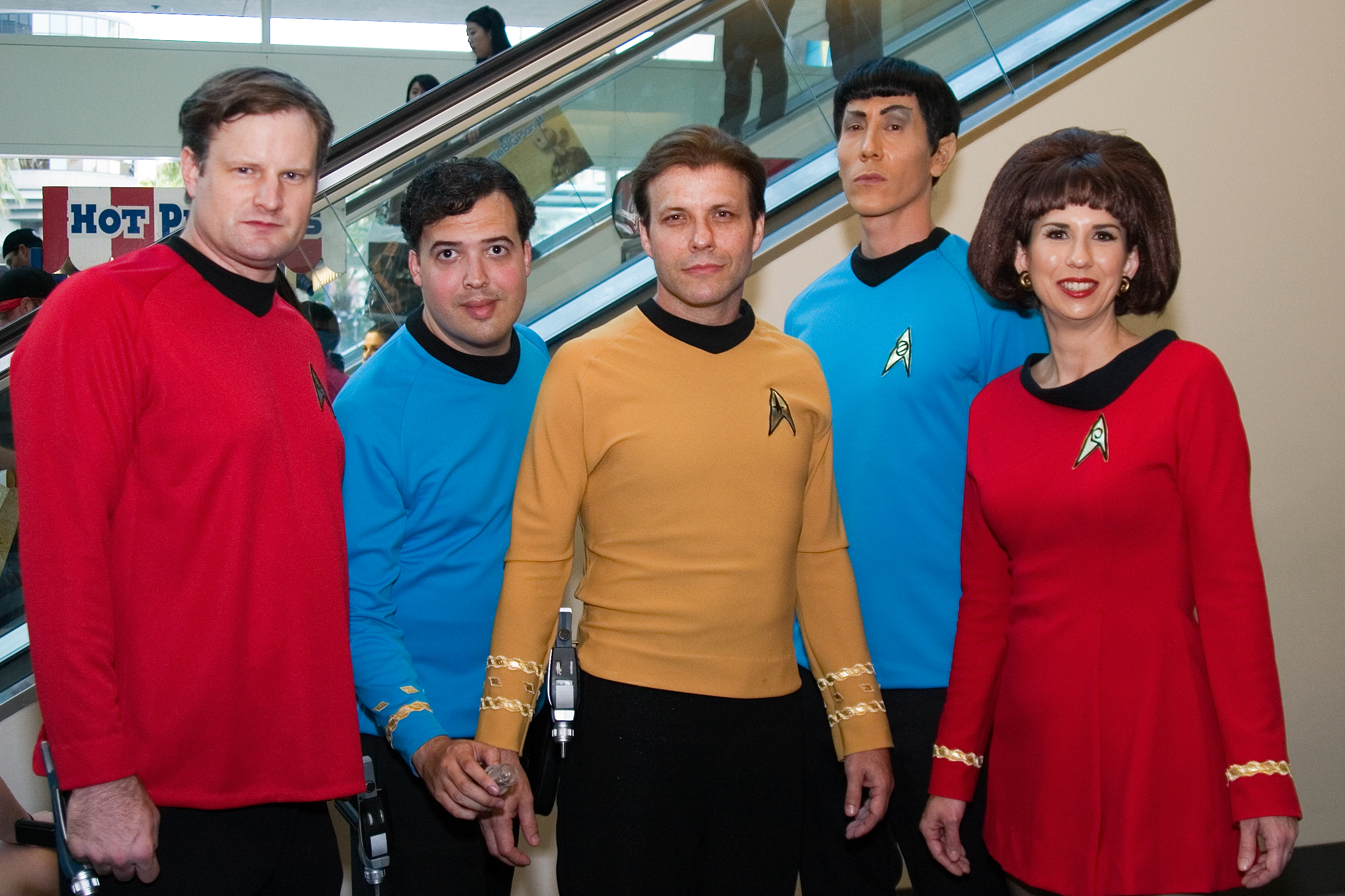 Photo of people dressed as Star Trek characters.