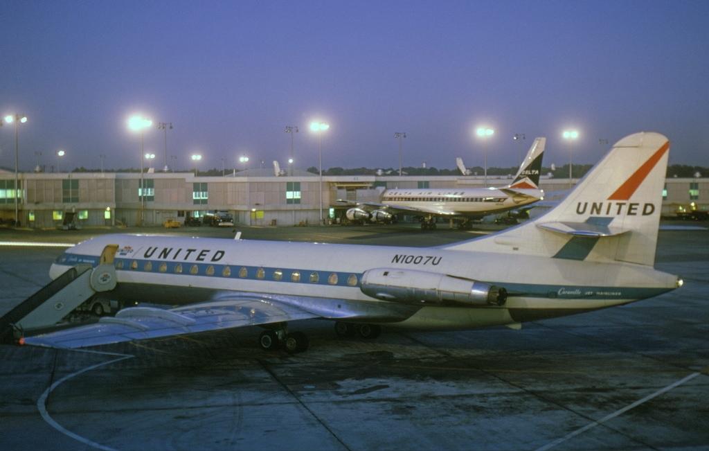 filesud aviation se 210 caravelle vir united airlines