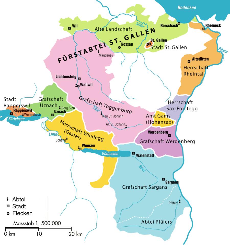 Switzerland Natural Resources Map