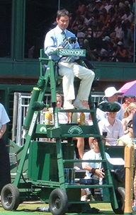 Lexique du tennis wikip dia for Chaise arbitre tennis