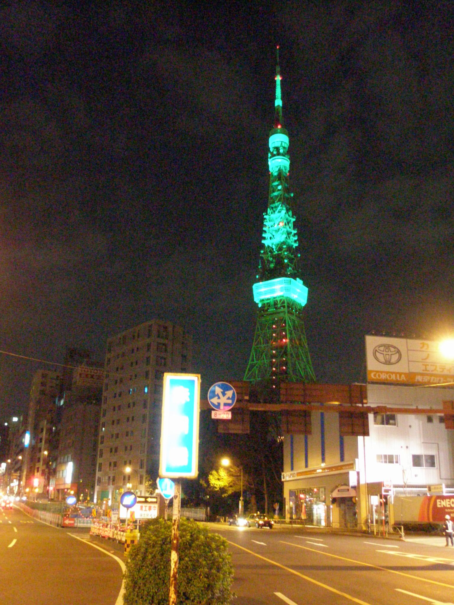 セントパトリックデー・パレード. 東京タワー 2007年3月17日