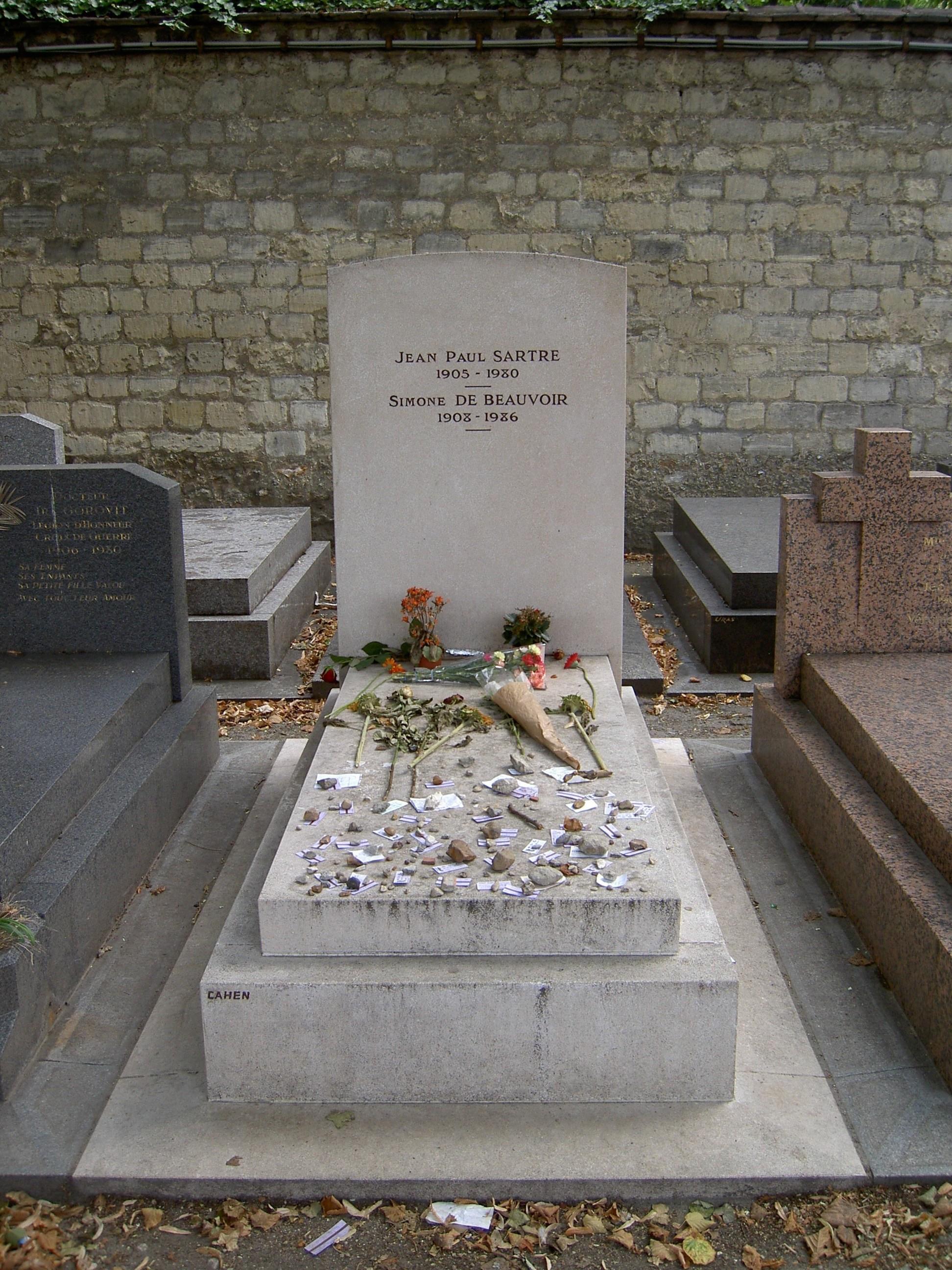 FileTombe De Sartre Et Beauvoirjpg Wikimedia Commons