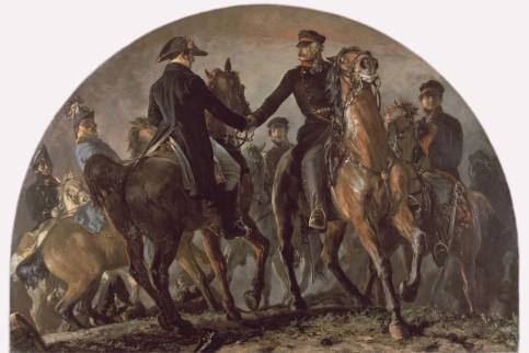 Wellington und nach der Blücher Schlacht von Waterloo.jpg