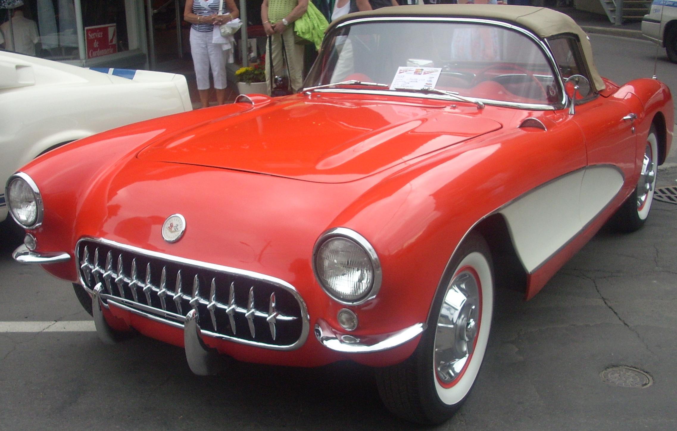 Corvette For Sale >> File:'56 Chevrolet Corvette (Cruisin' At The Boardwalk '10).jpg - Wikimedia Commons
