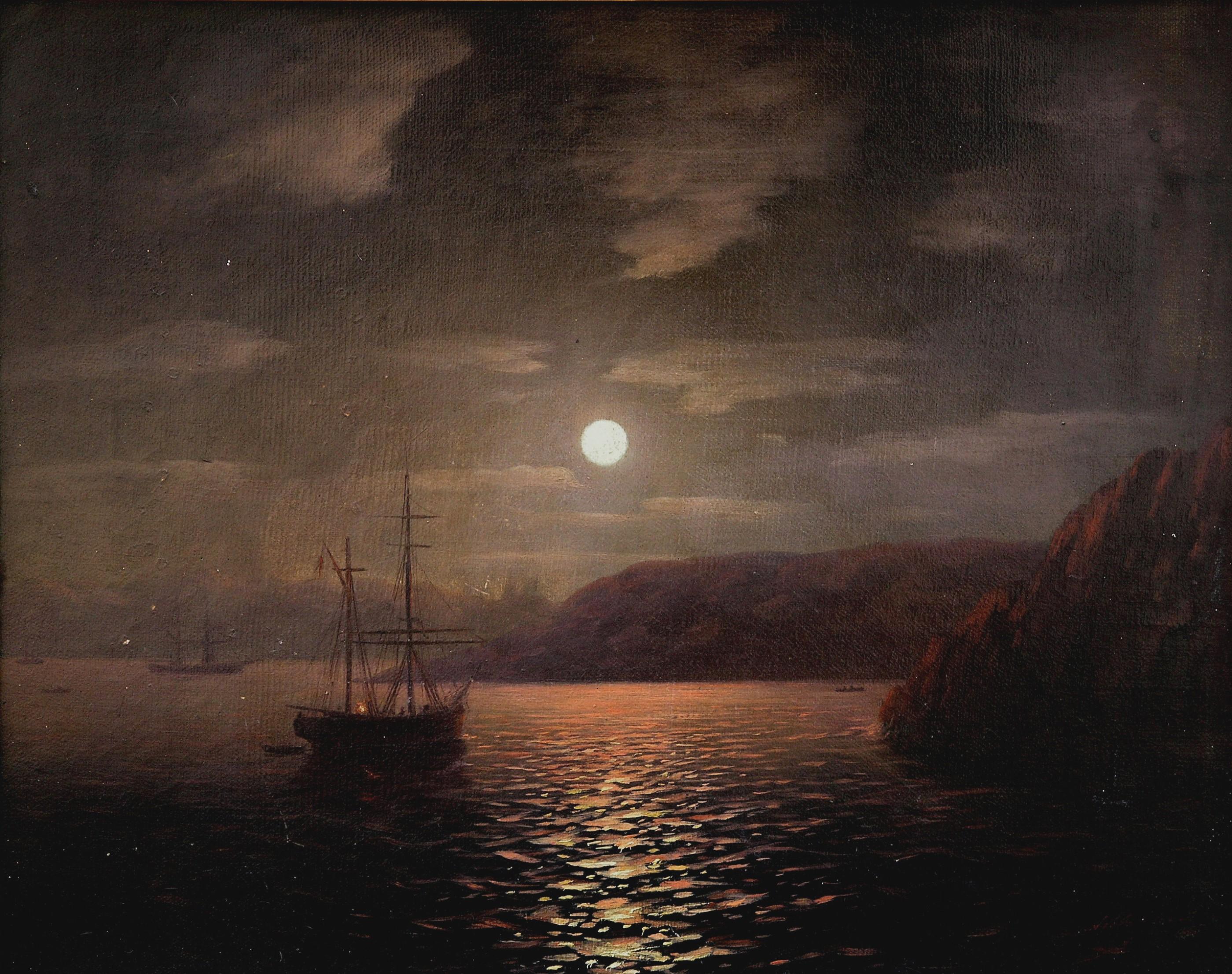 к айвазовский лунная ночь картинка