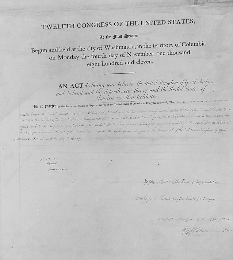 united states declaration of war upon the united kingdom