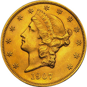 1907 Double Eagle, Liberty Head, Obverse