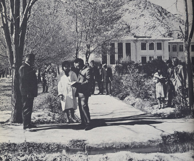 File:1950s Afghanistan - Kabul University students changing classes.jpg