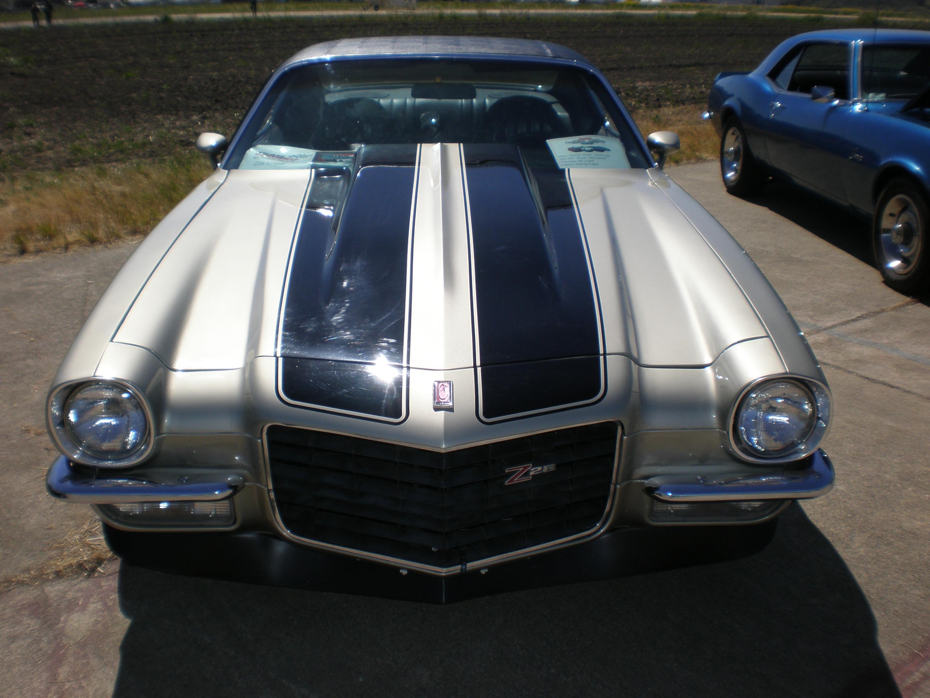 File 1973 Silver Chevrolet Camaro Z28 Front Jpg